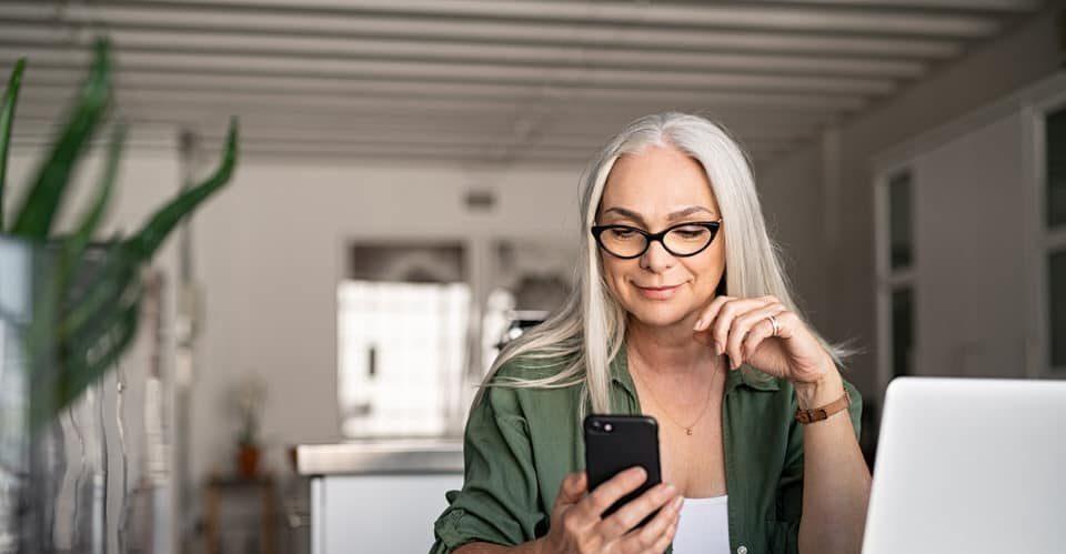 Senior checking her Medigap plan